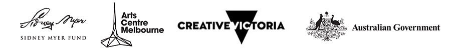 Sidney Myer, Arts Centre Melbourne, Creative Victoria and Australian Government logos