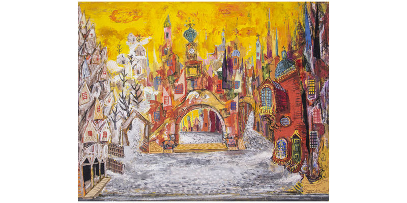 Set design by Kenneth Rowell for Coppélia