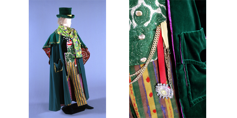 Costume (with hand-painted trousers) designed by Kenneth Rowell for Dr Coppelius, Coppélia
