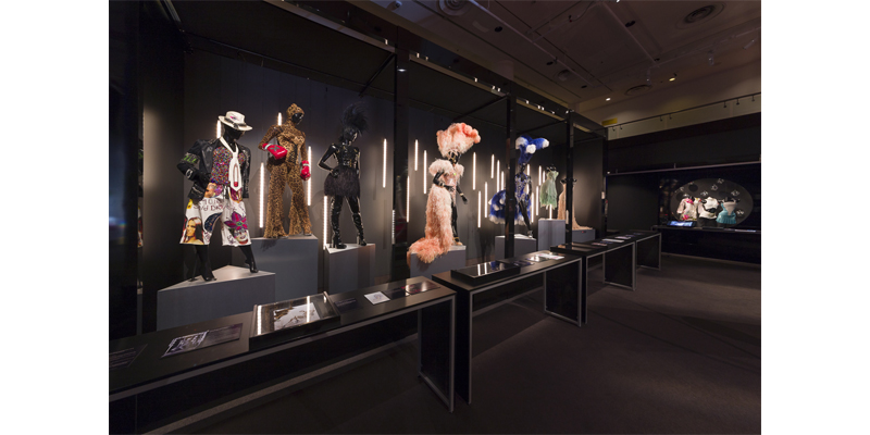 """Installation image of """"Kylie on Stage"""" exhibition on display in Melbourne"""