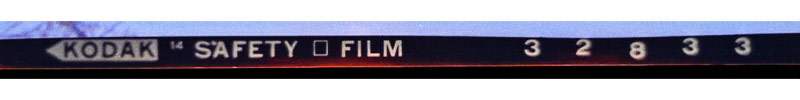 Negative strips with a safe cellulose acetate base have SAFETY FILM across the negative strip at regular intervals