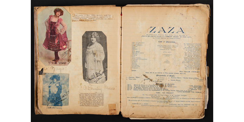Scrapbook relating to Nellie Stewart, compiled by Rita Hilton