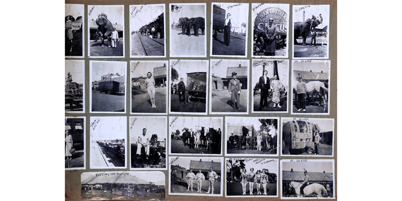 Scrapbook compiled by Charles West, Wirth's Circus, c.1905–1940s