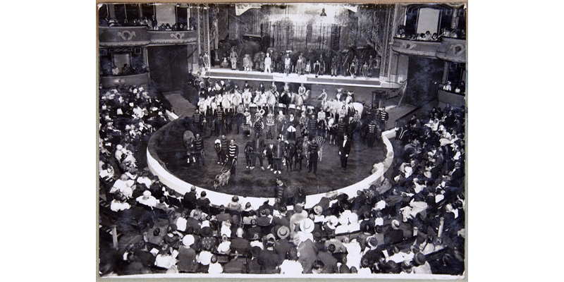 Photograph of Wirth's Circus, Hippodrome, Sydney, c.1920 in Charles West's scrapbook
