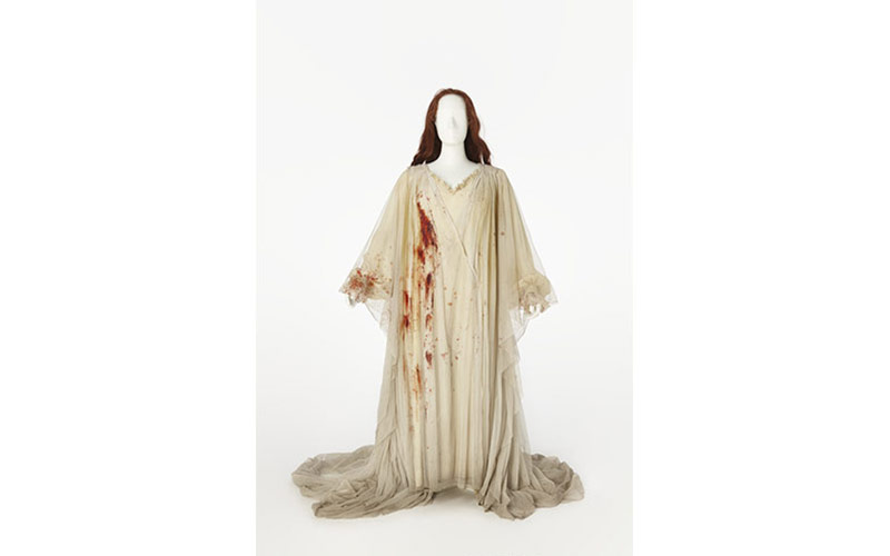 Costume worn by Joan Sutherland as Lucia in Lucia di Lammermoor