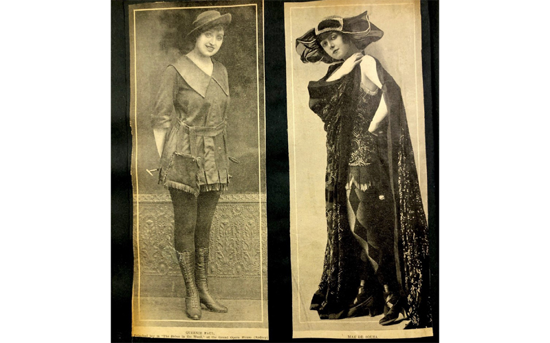 The stars of pantomimes interrupted by the Spanish Influenza closures in 1919