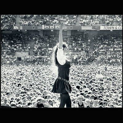 Chrissy Amphlett performing with The Divinyls
