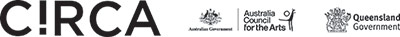 Circa, Aus Council for the Arts and Qld Government logos