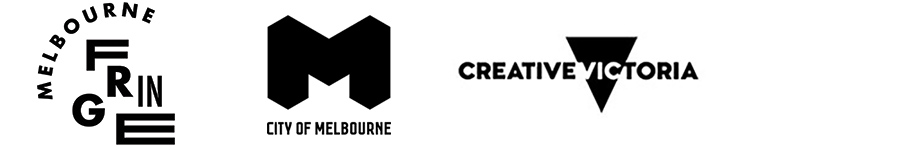 Melbourne Fringe, City of Melbourne and Creative Victoria logos