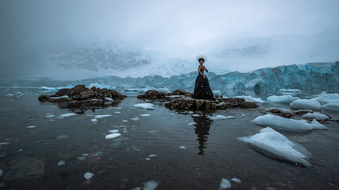 Image shot on location in Neko Harbour, Antarctica. Photography: Scott Portelli.