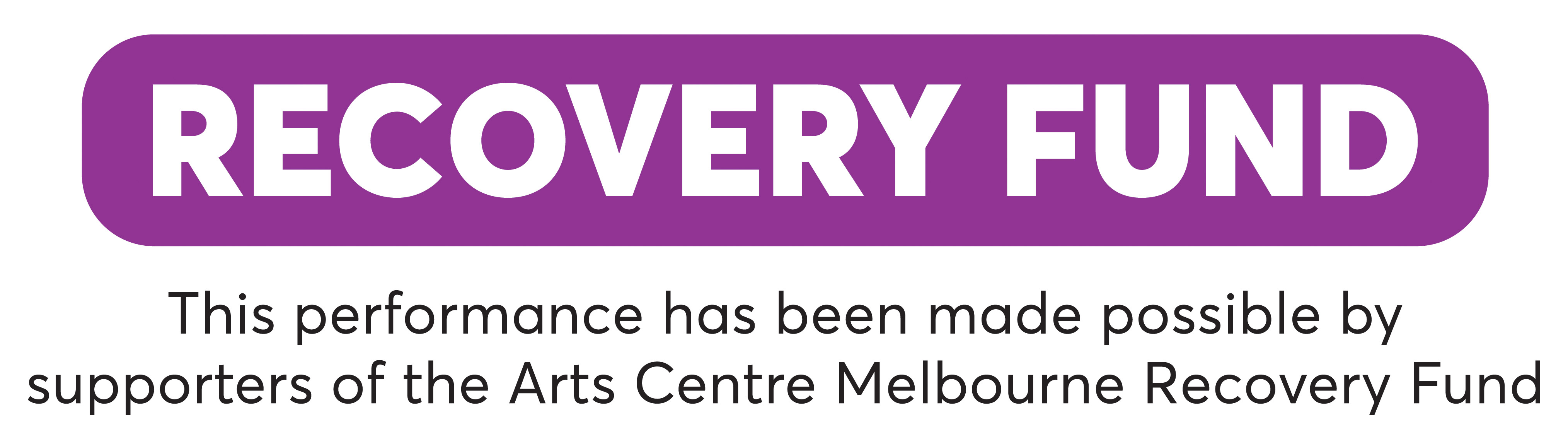 Arts Centre Melbourne Recovery Fund logo