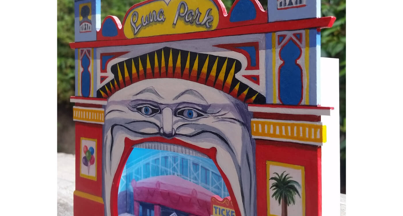 stagedoorartists painting of Luna Park