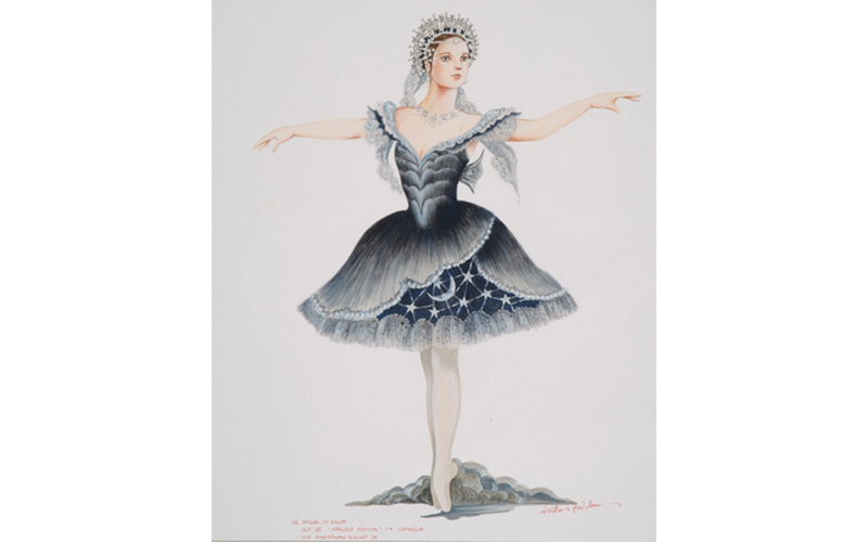 Costume design by Kristian Fredrikson for, 'Twelve Hours of the Night', Act Three, Coppélia