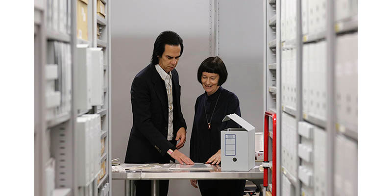 Nick Cave sorts through his collection with Janine Barrand